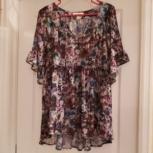 Jessica Simpson Floral Maternity Blouse